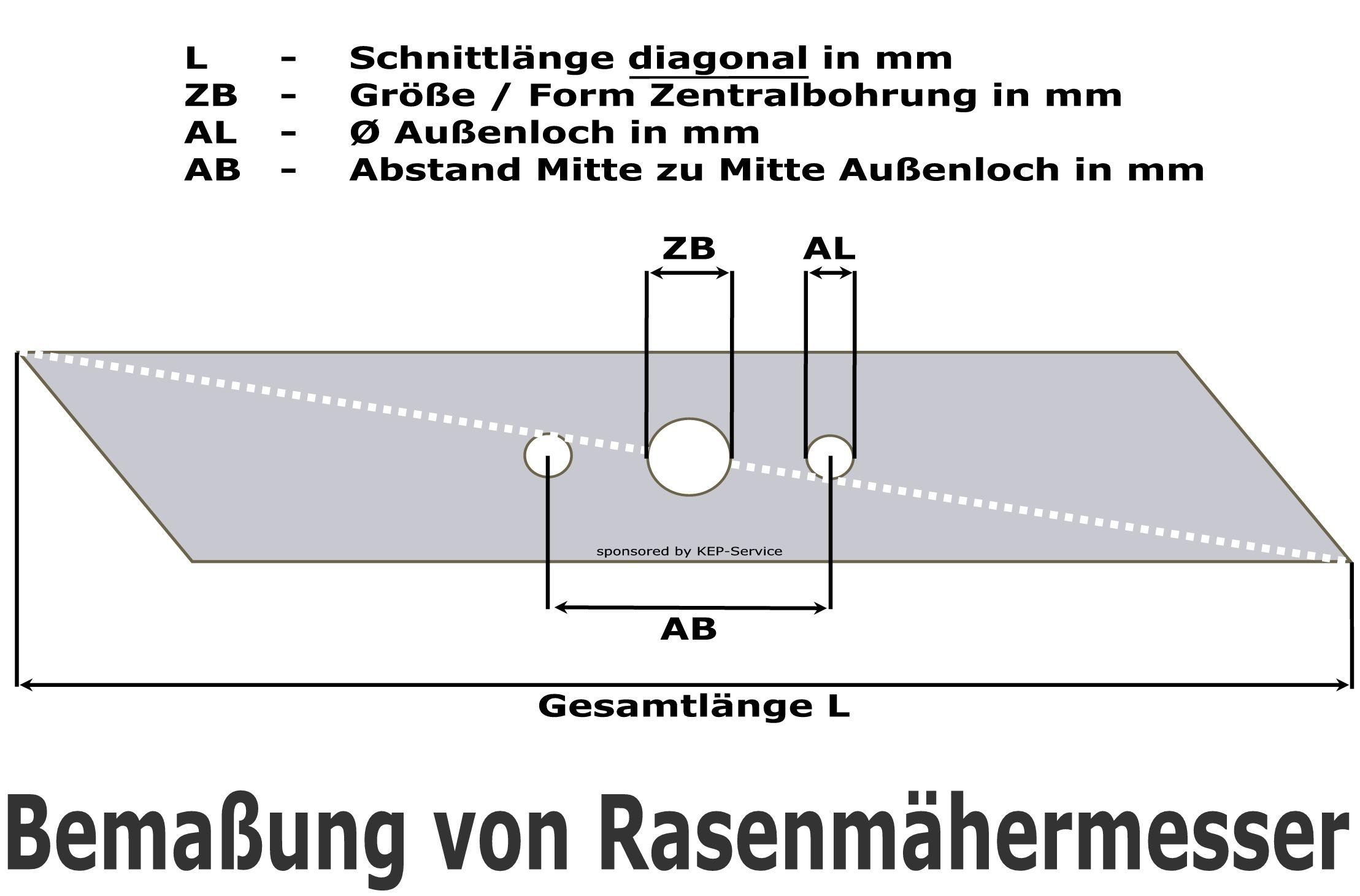 Gutbrod Rasenmäher Messer Ersatzmesser für HB 45 LS HB 45 RL HB 45 RSLS